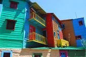 picture of ares  - A view of buildings in the Boca area of Buenos Ares - JPG