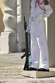 pic of gatekeeper  - Monaco soldier standing in the guerite - JPG