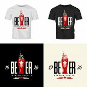 Modern Craft Beer Drink Vector Logo Sign For Bar, Pub, Brewery Or Brewhouse Isolated On T-shirt Mock poster