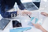 Efficiency Growth Concept. Business And Technology. Virtual Screen poster