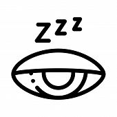 Half Closed Asleep Eye Icon Vector. Outline Half Closed Asleep Eye Sign. Isolated Contour Symbol Ill poster