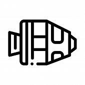 Spaceship Return Unit Icon Vector. Outline Spaceship Return Unit Sign. Isolated Contour Symbol Illus poster