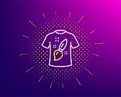 T-shirt Design Line Icon. Halftone Pattern. Creative Brush Sign. T Shirt Graphic Art Symbol. Gradien poster