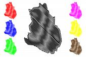 Maakel Region (horn Of Africa, State Of Eritrea, Regions Of Eritrea) Map Vector Illustration, Scribb poster
