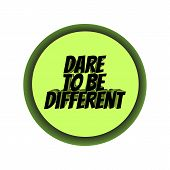 Dare To Be Different -simple Inspire And Motivational Quote. Hand Drawn Beautiful Lettering. Print F poster