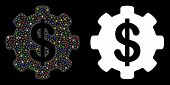 Flare Mesh Payment Options Gear Icon With Glare Effect. Abstract Illuminated Model Of Payment Option poster