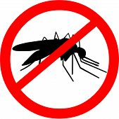 stock photo of malaria parasite  - Vector illustration of a malaria warning showing an infectious mosquito - JPG