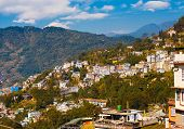 Gangtok Buildings Hillside Landscape Hill Station