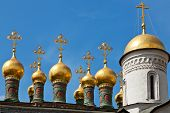 pic of cupola  - Cupolas of the Terem Palace Church Moscow Kremlin Russia - JPG