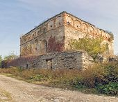 picture of tora  - ruins of the old synagogue in the summer - JPG