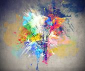 picture of lightbulb  - Colours of Life - JPG