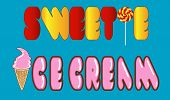 foto of sweetie  - Caption sweetie and ice cream with the replacement of letters - JPG