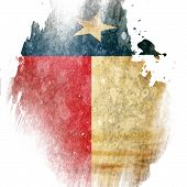 stock photo of texans  - Texan flag with some grunge effects and lines - JPG