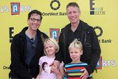 LOS ANGELES - NOV 17:  Dan Bucatinsky, Don Roos, children at the P.S. Arts Express Yourself 2013 at