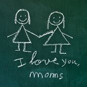 foto of i love you mom  - the sentence I love you - JPG