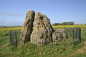 foto of burial  - The Whispering Knights Rollright Stones Neolithic Burial Chamber - JPG