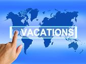 picture of sabbatical  - Vacations Map Meaning Online Planning or Worldwide Vacation Travel - JPG