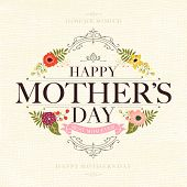 picture of i love you mom  - Vintage Retro Happy Mothers - JPG