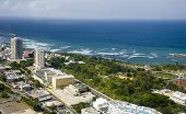 stock photo of tierra  - Aerial view of the Northern side of Puerto Rico - JPG