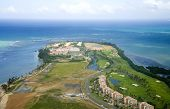 picture of greater antilles  - Aerial view of the Northeast side of Puerto Rico - JPG