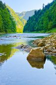 pic of pieniny  - Stone in The Dunajec River Gorge - JPG