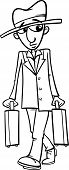 Постер, плакат: Man With Suitcases Coloring Page