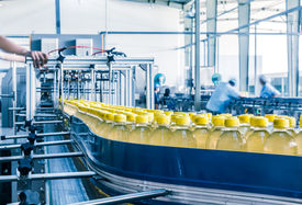 stock photo of production  - drinks production plant in China - JPG