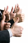 stock photo of business success  - Business people hands showing okay sign - JPG