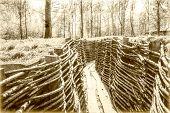 pic of world war one  - world war one trench belgium flanders bayernwald - JPG