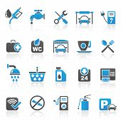 picture of petrol  - petrol station and oil icons  - JPG