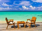 picture of kuramathi  - Cafe on the beach - JPG