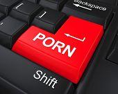 stock photo of pornographic  - Porn Button on Keyboard illustration - JPG