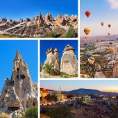 picture of valley fire  - Collage of Cappadocia Turkey images  - JPG