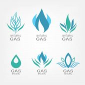 picture of derrick  - Set of gas energy icons - JPG