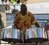 Musician On Steel Drums