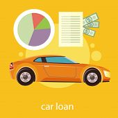 stock photo of designated driver  - Car loan approved document with dollars money - JPG