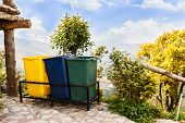 foto of garbage bin  - Garbage bins at camping site on mountain - JPG