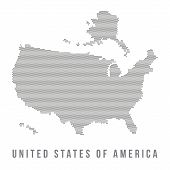 foto of usa map  - Dotted USA map isolated in white background - JPG