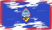 stock photo of guam  - Flag of Guam with old texture - JPG