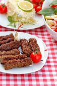 stock photo of kebab  - Grilled kebabs  - JPG