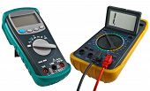 image of  multimeter  - the Digital multimeters on a white background - JPG