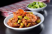picture of malaysian food  - Malaysian traditional spicy dish with stinky bean on nice table setting - JPG