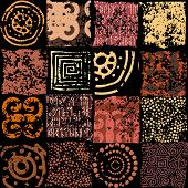 foto of rune  - Seamless background pattern - JPG
