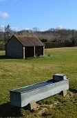 foto of trough  - Rural scene in Sussex - JPG