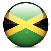 stock photo of jamaican flag  - Vector Image  - JPG
