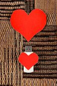 image of usb flash drive  - USB Flash Drive with Heart Shape on the Fabric Background - JPG