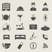 picture of elevator icon  - Hotel services icons - JPG