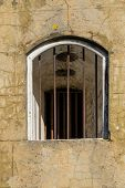 pic of martello  - Barred window opening at the Wishtower Eastbourne - JPG
