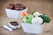 stock photo of diabetes  - Proper nutrition to health without diabetes  - JPG