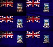 stock photo of falklands  - Flag of Falkland Islands with old texture - JPG
